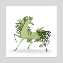 Evergreen Unicorn - Canvas by Katharine Henry