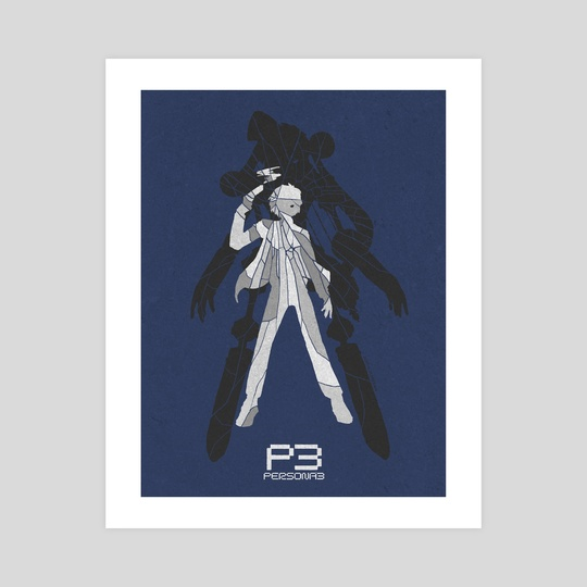 Persona 3 Poster - The Protagonist by Justin Jefferson