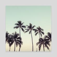 palmtreeeeeee - Canvas by noir blanc777