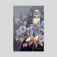 Owl and Mice - Acrylic by Glummingbird