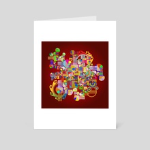 Geometric abstraction No. 45 - Art Card by Dmitry Payvin