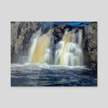 Low Force Waterfall Closer Shot - Acrylic by Dominic Wade