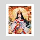 Amaterasu - Art Print by Margaret Morales