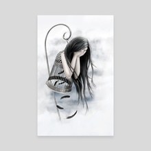 Raven Tears - Canvas by Anima Somnia