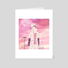 Pink Hour - Minato - Art Card by Scar