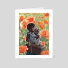 Poppies - Art Card by Erik Krenz