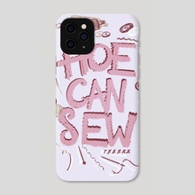 H-- Can Sew - Phone Case by Min Morris