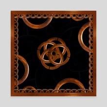 Wooden Ornate Digital Artwork - Canvas by Daniel Ferreira Leites