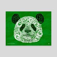 Swirly Panda - Canvas by Carolina Matthes