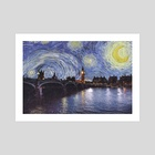 Starry Night Over London England - Art Print by Anthony Londer