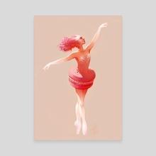 Candy Ballerina - Canvas by Hélène Lenoble