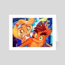 Coco n Crash  - Art Card by Aysh iun