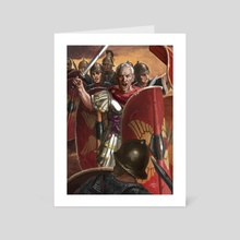 Julius Caesar in the Battle of Munda - Art Card by Sandra Delgado