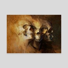 skulls - Canvas by Min Yum