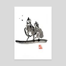 2 birds - Canvas by philippe imbert