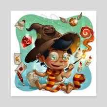 """Baby Wizard - Canvas by Fernando """"Calakka"""" Regalado"""