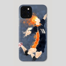 [Haikyuu!] Hinata in watercolors - Phone Case by Danaos Christopoulos