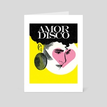 Amor Disco - Art Card by Andres Gomez