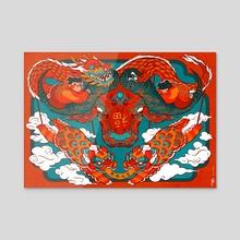Year of the Ox - Acrylic by Mulan Fu