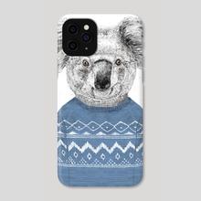 Winter koala - Phone Case by Balazs Solti