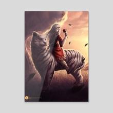 Erika - Genesis Battle of Champions - Acrylic by Damjan Gjorgievski