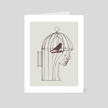 Be Alone - Art Card by huebucket