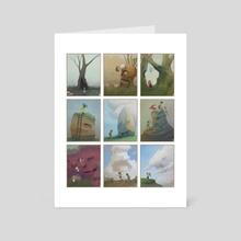 Strange Forgotten Monsters of Childhood - miniatures compilation - Art Card by Jan Krycinski