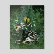 Rebirth - Acrylic by Ruu Allain