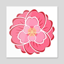 Camellia - Acrylic by Lori  Schkufza