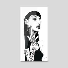 Nana - Acrylic by Kritzia LaRose