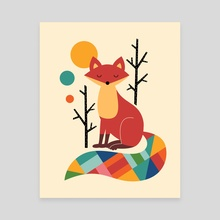 Rainbow Fox - Canvas by Andy Westface