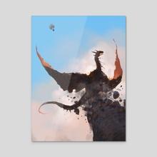 Cloud Fight! - Acrylic by Alex Konstad
