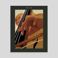 Cello - Canvas by Mackenzie Reid