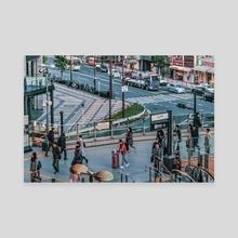 Crowded Urban Scene, Osaka - Japan - Canvas by Daniel Ferreira Leites
