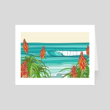 J Bay - Art Card by odi Surf Art