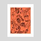 tattoo flash 1 - Art Print by Orin Dee