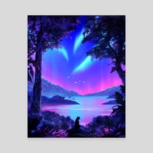Vaporwave Jungle - Canvas by Sam Lee