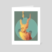 Horned - Art Card by Lune Whitlock
