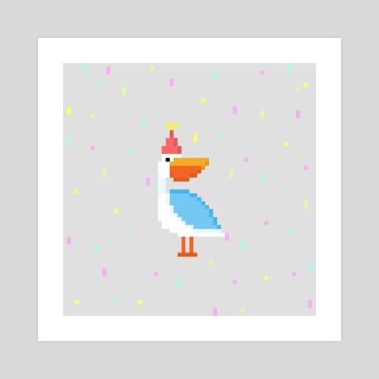 Pixel Party Pelicanito by Anna Nguyen