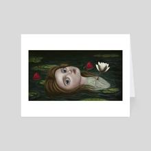 Lily Pond - Art Card by Eda Herz