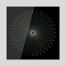 Full Circle Geometric Opart - Acrylic by Alice Iranon