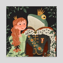 Frog Prince - Canvas by Bee