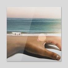 Handy Beach - Acrylic by Monica Carvalho