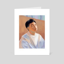 Do Kyungsoo Pastels - Art Card by Khanh Van Pham
