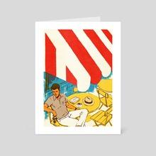 St. Tropez Postcard 3 - Art Card by Patrick  Leger