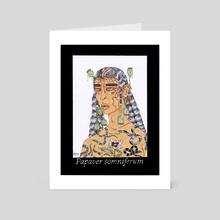 Papavar Somniferum - Art Card by Panteha Abareshi