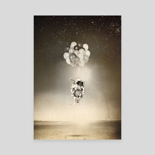 Space collection : The Astronaut - Canvas by Julien KALTNECKER