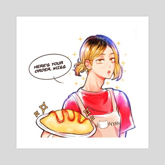 Waiter Kenma by oumachii
