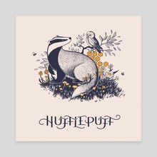 Hufflepuff - Canvas by Ash Weaver