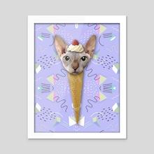 SPHYNX CAT ICE CREAM - Acrylic by Gloria Sánchez